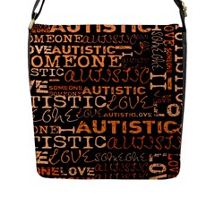 I Love Someone Autistic  Flap Closure Messenger Bag (large) by OCDesignss