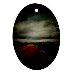 Dark Empty Road Oval Ornament by dflcprints