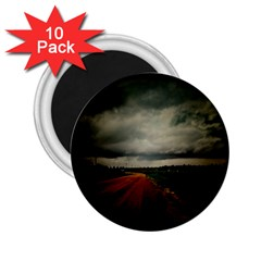Dark Empty Road 2 25  Button Magnet (10 Pack) by dflcprints