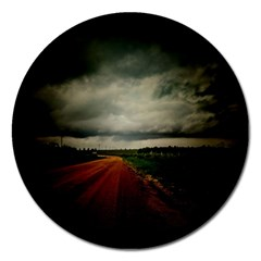 Dark Empty Road Magnet 5  (round) by dflcprints
