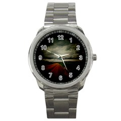 Dark Empty Road Sport Metal Watch by dflcprints