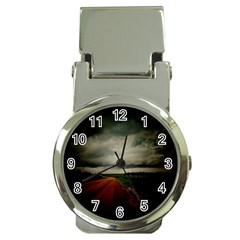 Dark Empty Road Money Clip With Watch by dflcprints