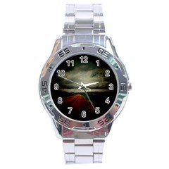 Dark Empty Road Stainless Steel Watch by dflcprints