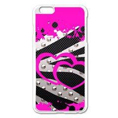 Torn Zebra Heart Apple Iphone 6 Plus Enamel White Case by OCDesignss