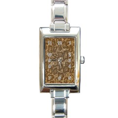 Snake Skin Abstract Rectangular Italian Charm Watch by OCDesignss
