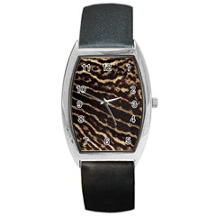 Leopard Texture  Tonneau Leather Watch by OCDesignss