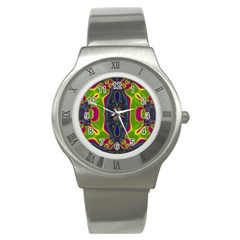 Hippie Fractal  Stainless Steel Watch (slim) by OCDesignss