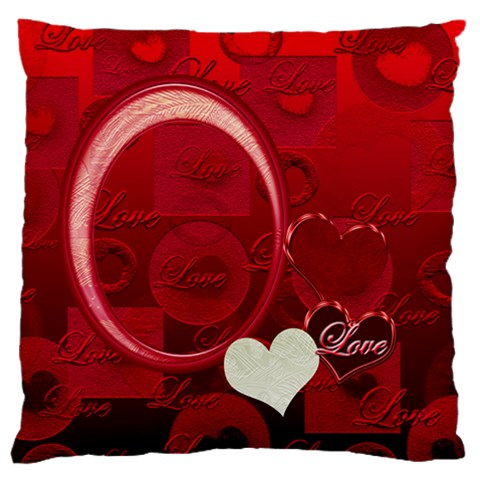 Red Love Standard Flano Cusion Case By Ellan   Standard Flano Cushion Case (one Side)   62u6frwpo2a9   Www Artscow Com Front