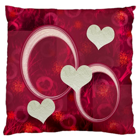 I Heart You Pink Large Flano Cusion Case By Ellan   Large Flano Cushion Case (one Side)   Zkde1u68q71a   Www Artscow Com Front