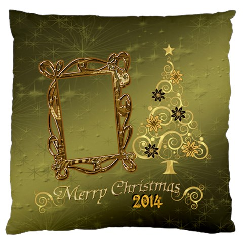Christmas2 Large Flano Cusion Case By Ellan   Large Flano Cushion Case (one Side)   Lfljfmn3pq91   Www Artscow Com Front