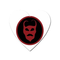 Devil Symbol Logo Magnet (heart) by dflcprints
