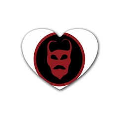 Devil Symbol Logo Drink Coasters 4 Pack (heart)  by dflcprints