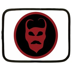 Devil Symbol Logo Netbook Sleeve (large) by dflcprints