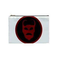 Devil Symbol Logo Cosmetic Bag (medium) by dflcprints