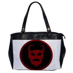 Devil Symbol Logo Oversize Office Handbag (one Side) by dflcprints