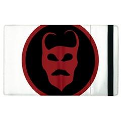 Devil Symbol Logo Apple iPad 3/4 Flip Case by dflcprints