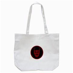 Devil Symbol Logo Tote Bag (white) by dflcprints