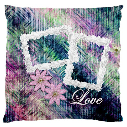 Pastel Floral Love Large Flano Cusion Case By Ellan   Large Flano Cushion Case (one Side)   Sdhgyeq4esa8   Www Artscow Com Front