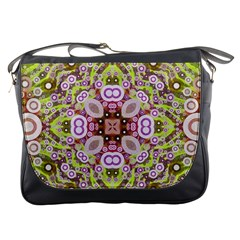 Crazy Abstract Pattern Messenger Bag by OCDesignss