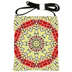 Red Yellow Kielidescope  Shoulder Sling Bag by OCDesignss