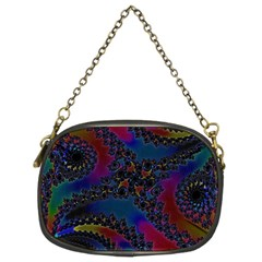Rainbow Fractal  Chain Purse (two Sided)  by OCDesignss