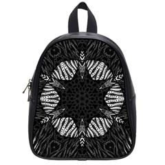 Zebra Cat Paws Pattern School Bag (small) by OCDesignss