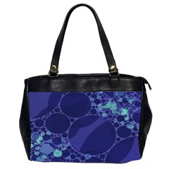 Purple Turquoise Abstract Oversize Office Handbag (two Sides) by OCDesignss