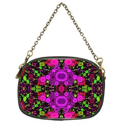 Abstract Florescent Unique  Chain Purse (one Side) by OCDesignss