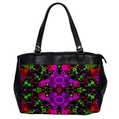 Abstract Florescent Unique  Oversize Office Handbag (one Side) by OCDesignss