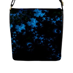 Pretty In Blue  Flap Closure Messenger Bag (large) by OCDesignss