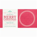Christmas Sentiments Card No. 2 - 4  x 8  Photo Cards