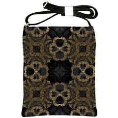 Golden Skulls Shoulder Sling Bag by OCDesignss