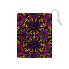 Color Bursts  Drawstring Pouch (medium) by OCDesignss