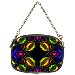 Sassy Neon Lips  Chain Purse (one Side)