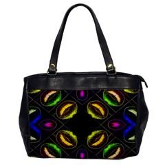Sassy Neon Lips  Oversize Office Handbag (one Side) by OCDesignss