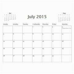 Pam Calendar By Stacey Mulvaney   Wall Calendar 11  X 8 5  (12 Months)   385g9co2d6aj   Www Artscow Com Jul 2015