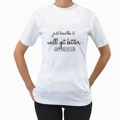 Just Breathe  Women s Two Sided T Shirt (white) by OCDesignss