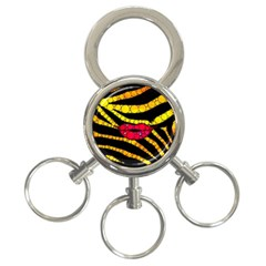 Mouthy Zebra  3 Ring Key Chain by OCDesignss