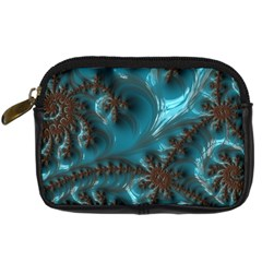 Glossy Turquoise  Digital Camera Leather Case by OCDesignss
