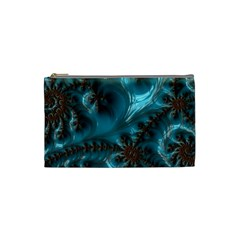 Glossy Turquoise  Cosmetic Bag (small) by OCDesignss