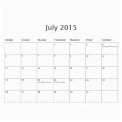 Calendar 2014 By Kathleen    Wall Calendar 11  X 8 5  (12 Months)   Mly2jwr136op   Www Artscow Com Jul 2015
