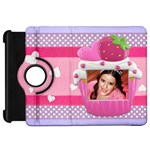 Cupcake Frame-Kindle Fire HD case - Kindle Fire HD Flip 360 Case