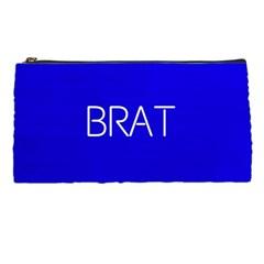 Brat Blue Pencil Case by OCDesignss