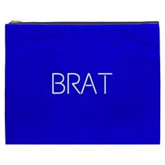 Brat Blue Cosmetic Bag (xxxl) by OCDesignss