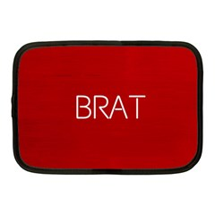 Brat Red Netbook Sleeve (medium) by OCDesignss