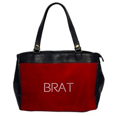 Brat Red Oversize Office Handbag (one Side) by OCDesignss