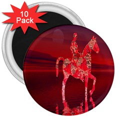 Riding At Dusk 3  Button Magnet (10 Pack) by icarusismartdesigns