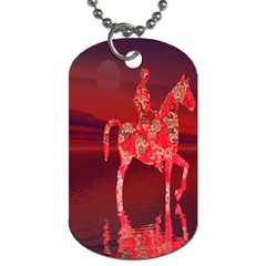 Riding At Dusk Dog Tag (two Sided)  by icarusismartdesigns