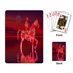 Riding At Dusk Playing Cards Single Design by icarusismartdesigns