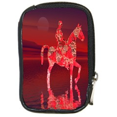 Riding At Dusk Compact Camera Leather Case by icarusismartdesigns